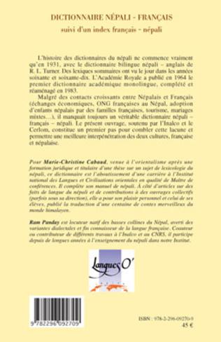 4eme Dictionnaire népali-français