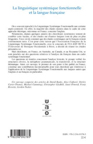 4eme La linguistique systémique fonctionnelle et la langue française