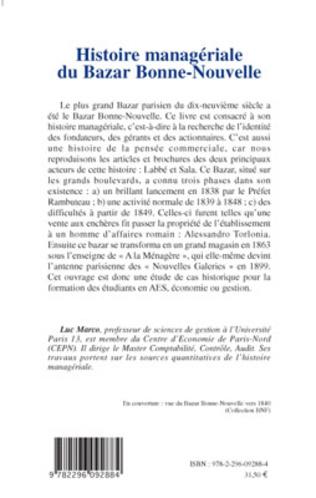 4eme Histoire managériale du Bazar Bonne-Nouvelle