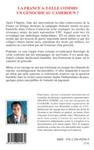 4eme La France a-t-elle commis un génocide au Cameroun ?