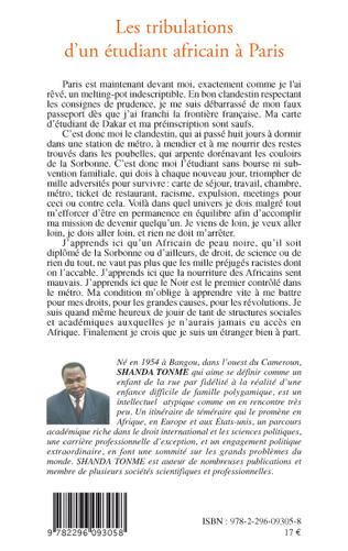 4eme Les tribulations d'un étudiant africain à Paris