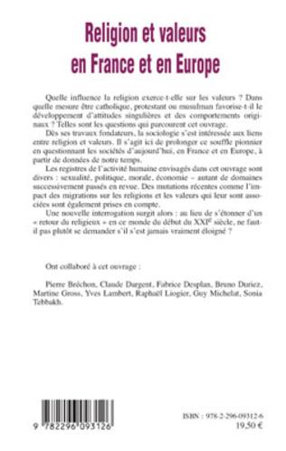 4eme Religion et valeurs en France et en Europe