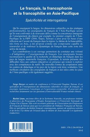 4eme Le français, la francophonie et la francophilie en Asie-Pacifique