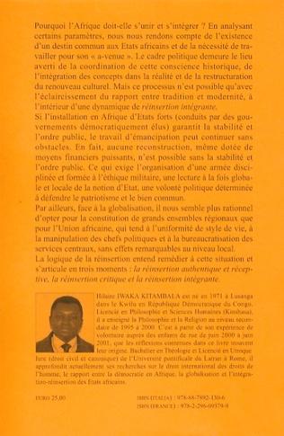4eme Pour une réinsertion politique, culturelle et éthique de l'Afrique dans un monde globalisé
