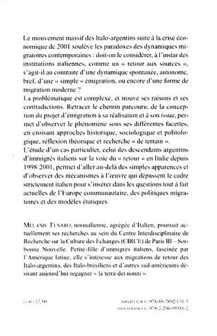 4eme Les Italo-Argentins en Italie (1998-2006) :
