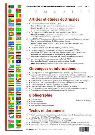 4eme Revue Africaine des Affaires Maritimes et des transports