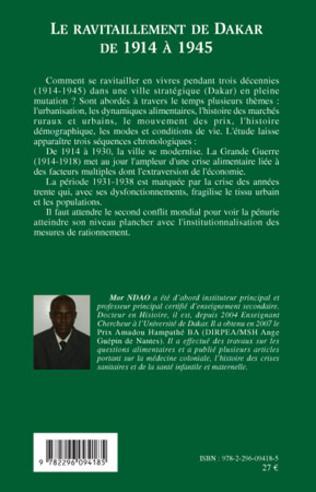 4eme Le ravitaillement de Dakar de 1914 à 1945