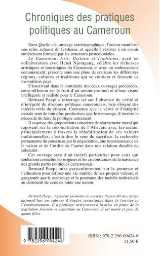 4eme Chroniques des pratiques politiques au Cameroun