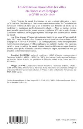 4eme Les femmes au travail dans les villes en France et en Belgiq