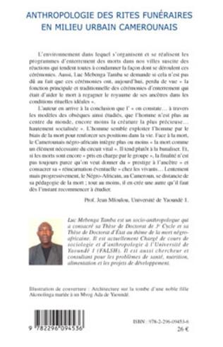 4eme Anthropologie des rites funéraires en milieu urbain camerounais