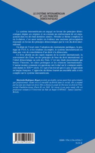 4eme Le système interaméricain et les principes démocratiques