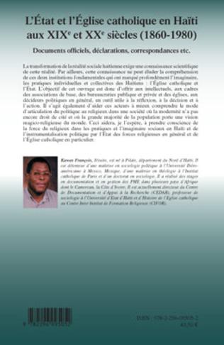 4eme L'Etat et l'Eglise catholique en Haïti aux XIX et XXe siècles (1860-1980)