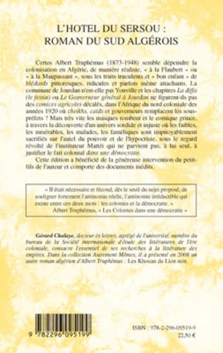 4eme L'hôtel du sersou : roman du sud algérois