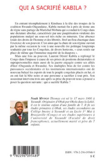 4eme Qui a sacrifié Kabila ?