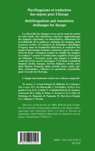 4eme Plurilinguisme et traduction des enjeux pour l'Europe