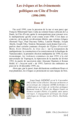 4eme Les évêques et les évènements politiques en Côte d'Ivoire