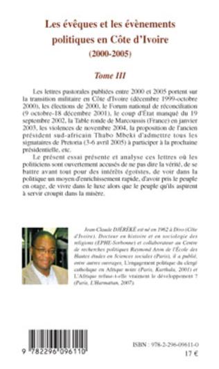 4eme Les évèques et les évènements politiques en Côte d'Ivoire
