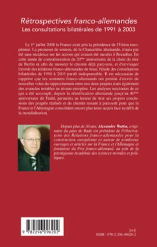 4eme Rétrospectives franco-allemandes