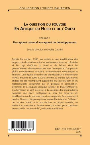 4eme La question du pouvoir en Afrique du nord et de l'ouest