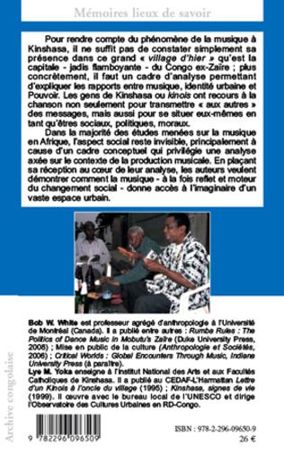 4eme Musique populaire et société à Kinshasa