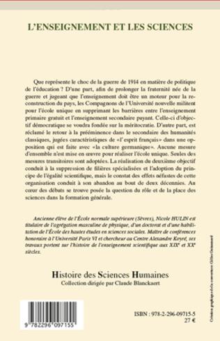 4eme L'enseignement et les sciences