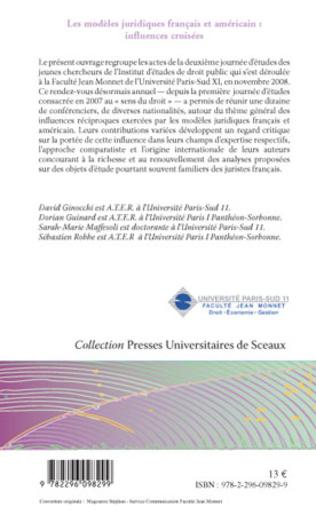4eme Les modèles juridiques français et américain : influences croisées