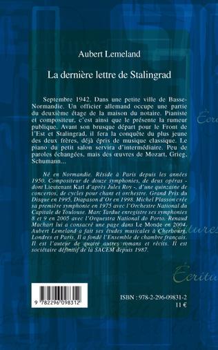 4eme La dernière lettre de Stalingrad
