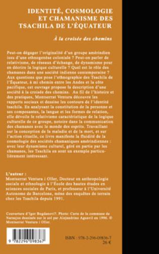 4eme Identité, cosmologie et chamanisme des Tsachila de l'Equateur
