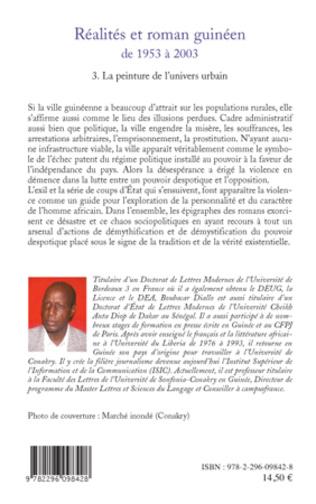 4eme Réalités et roman guinéen de 1953 à 2003 T3