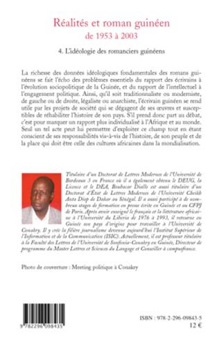 4eme Réalités et roman guinéen de 1953 à 2003 T4