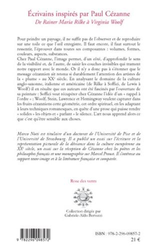 4eme Ecrivains inspirés par Paul Cézanne
