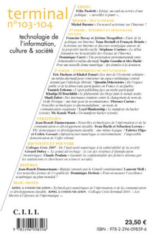 4eme Technologie de l'information, culture et société