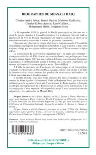 4eme Biographes de Messali Hadj