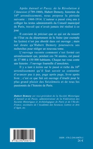4eme Auteuil et Passy, de l'Annexion à la Grande Guerre