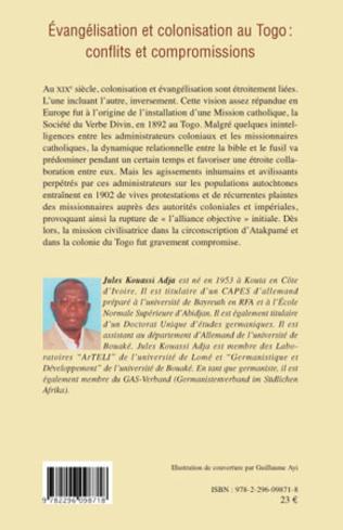 4eme Evangélisation et colonisation au Togo : conflits et compromissions