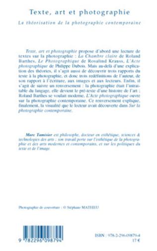 4eme Texte, art et photographie
