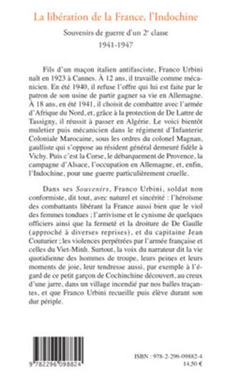 4eme La libération de la France, l'Indochine