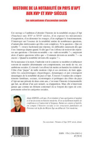 4eme Histoire de la notabilité en pays d'Apt aux XVIe et XVIIe siècles