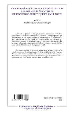 4eme Prolégomènes à une sociologie de l'art