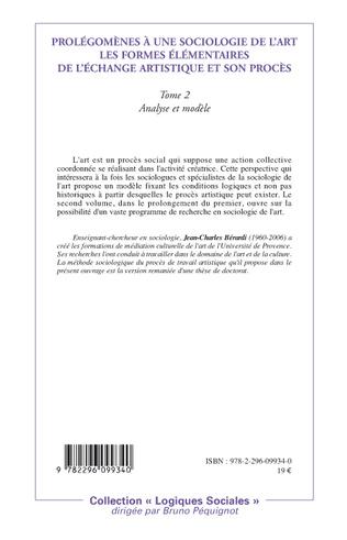 4eme Prolégomènes à une sociologie de l'art les formes élémentaires de l'échange artistique et son procès