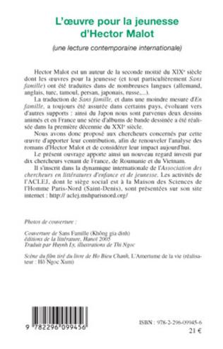 4eme L'oeuvre pour la jeunesse d'Hector Malot