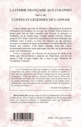 4eme La femme française aux colonies suivi de Contes et légendes de l'Annam