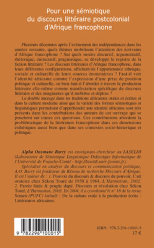 4eme Pour une sémiotique du discours littéraire postcolonial d'Afrique francophone
