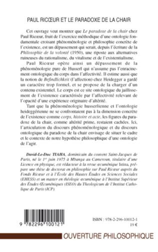 4eme Paul Ricœur et le paradoxe de la chair