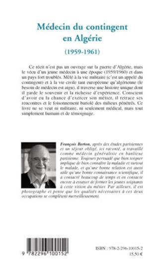 4eme Médecin du contingent en Algérie