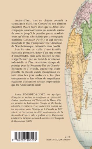 4eme La compagnie maritime Allan de l'Ecosse au Canada au XIXe siècle