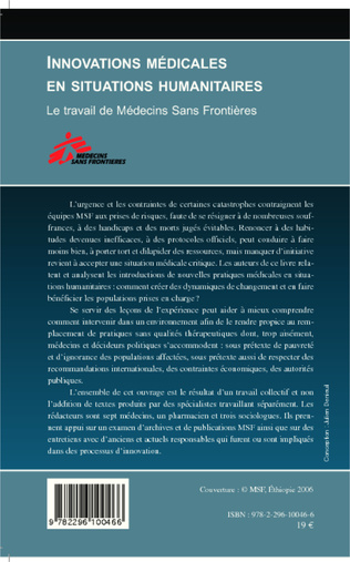 4eme Innovations médicales en situations humanitaires