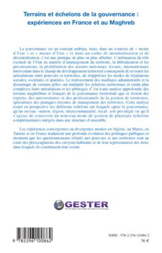 4eme Terrains et échelons de la gouvernance : expériences en France et au Maghreb