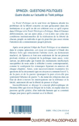 4eme Spinoza : questions politiques