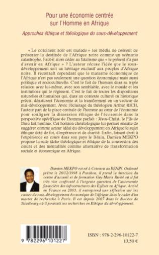 4eme Pour une économie centrée sur l'Homme en Afrique